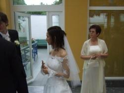 Suknia ślubna- koronka