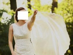 Suknia ślubna koronka, ecru a la' A. Kara, Madonna