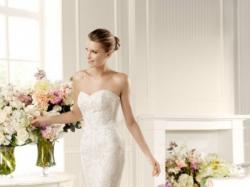 suknia ślubna koronka hiszpańska La sposa Mullet r.34