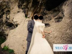 Suknia ślubna koronka Justin Alexander