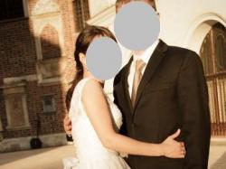 Suknia ślubna, koronka, rozmiar 34 - 36
