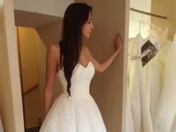 Suknia ślubna koronkowa krótka Ilayla