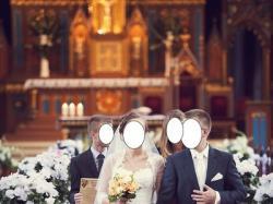Suknia ślubna koronkowa z trenem ivory r.36