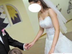 Suknia ślubna kość słoniowa rozm.36/173cm wzrostu