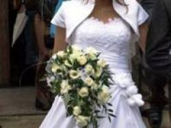 Suknia ślubna KRAKÓW rozm.38 bolerko halka