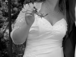 Suknia ślubna kremowa z bolerkiem!