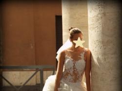 Suknia Ślubna krótka z przodu długi tren