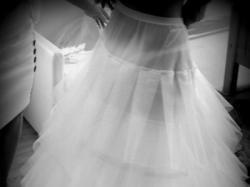 Suknia ślubna - kryształy swarovskiego + halka+bolerko