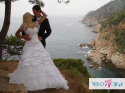 Suknia ślubna księżniczka, wysoka 178, gratisy