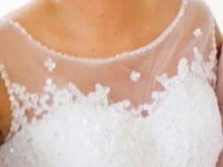 Suknia ślubna La mariee roz. 38 tren koronka