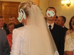suknia slubna la sposa fanal z trenem + 2 welony + bolerko+ buty