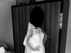 Suknia ślubna Lillian West model 6315, rozmiar 36 + zapas materiału