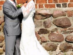 Suknia ślubna Lorna z kolekcji Pronovias rozmiar 38 stan idealny