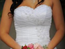 suknia ślubna, Madam Elle, tanio + gratis buty, welon i bolerko, r38