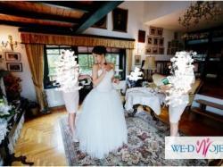 Suknia ślubna Madame B 34 36 38 tiul ŚLICZNA z klasą