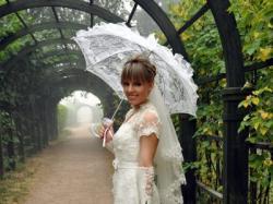 Suknia ślubna Margarett Rocca, kolor ecru, rozmiar 38 + dodatki
