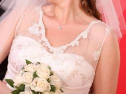 Suknia ślubna MARIETTA 44 - 46 ecru hafty koronki model 2008