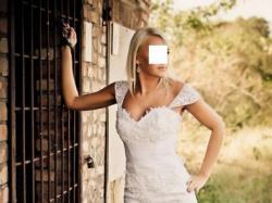 Suknia ślubna Marietta koronkowa 36/38 biała