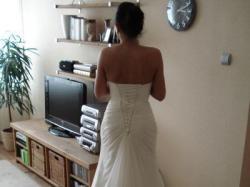 Suknia ślubna Mori Lee 36/38 z salonu Evita (dekolt serduszko, bandażowania)