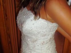 Suknia ślubna Ms Moda, typ Paula, rozm.36 biała