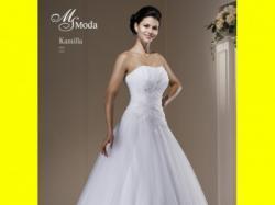 Suknia ślubna MS MODE Kamilla 36/38 biała princessa koronki 2012