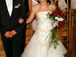 Suknia ślubna na wzór benjamin roberts 911