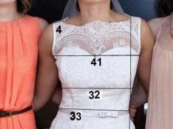 Suknia ślubna Nabla  Fleure koronka kokarda 36/38