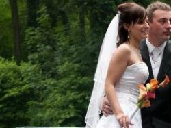 suknia ślubna Oleg Cassini + GRATIS nowa sukienka ecru