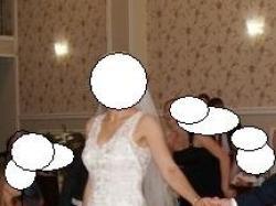 suknia ślubna perłowa rozm 36, 168 cm+ 9 cm obcas