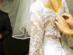 Suknia ślubna piekna koronka