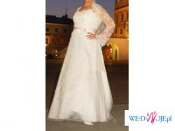 Suknia ślubna pięknie zdobiona ecru 42/44