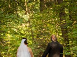 Suknia ślubna - piórkowa
