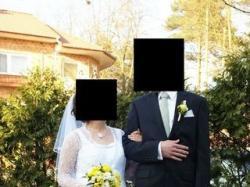 suknia ślubna + płaszcz koronkowy+ welon