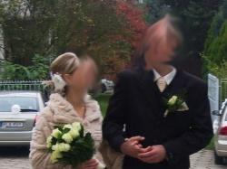 Suknia ślubna plisowana kolor ecru AGNES