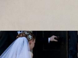suknia ślubna princessa dla niskiej osoby biała