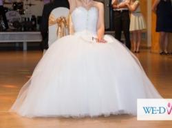 Suknia ślubna Princessa jak z bajki rozm. 34/36 GRATISY
