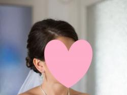 Suknia ślubna Princessa, kryształki swarovskiego, bolerko z gipiury