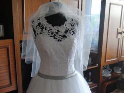 Suknia ślubna princessa księżniczka koronka gipiura stan idealny