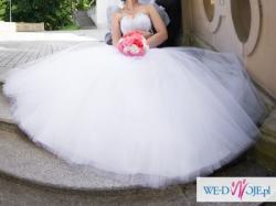 Suknia ślubna Princessa rozm. 34/36 GRATISY jedyna taka