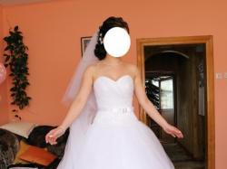 Suknia Ślubna Princessa z warstwą brokatową