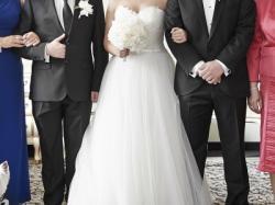 Suknia ślubna Pronovias BARBATE z trenem + długi welon