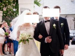 Suknia ślubna Pronovias Ocelada + bolerko + welon r. 36-38