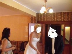 suknia ślubna przód mini tył do ziemi uikatowa