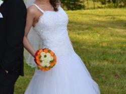 Suknia ślubna r. 38-42, biała, tiulowa + szal GRATIS!