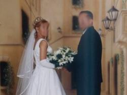 Suknia Ślubna raz ubrana, stan idealny bialutka
