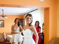 Suknia Ślubna roz. 34/36 + koronkowe bolerko