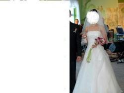 Suknia ślubna roz.36+welon,halka i rękawiczki!