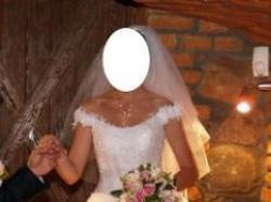 Suknia ślubna roz.38-167wzrost + 5cm obc