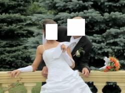 Suknia ślubna roz. 38 + welon, bolerko, rękawiczki...