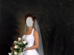 Suknia ślubna-rozm.34/36,biała